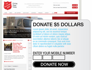 Web Based Mobile Donation Widget